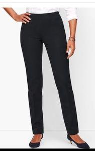 Talbots pant, classic STRAIGHT-LEG, Navy, side zip
